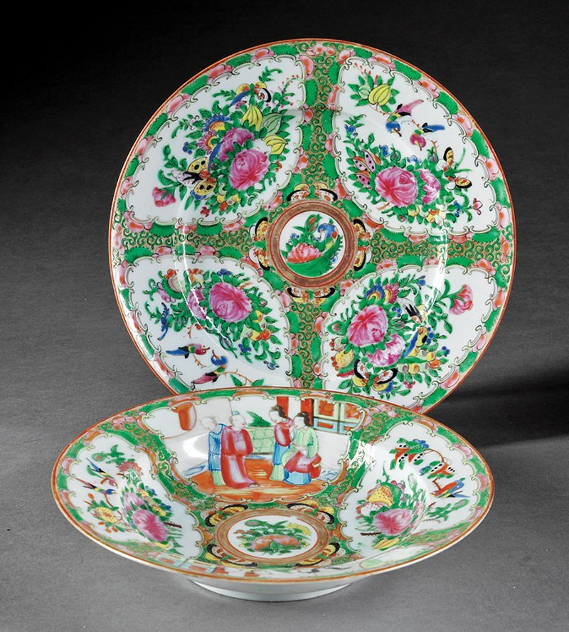Chinese Export Famille Rose Porcelain Service
