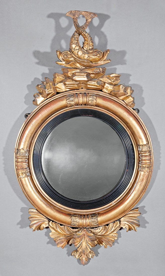 American Classical Giltwood Bullseye Mirror