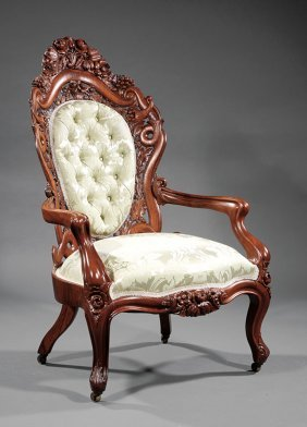 Rosewood Lady's Armchair, Attr. Belter