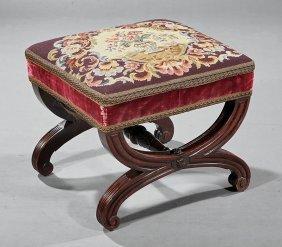 American Classical Mahogany Footstool