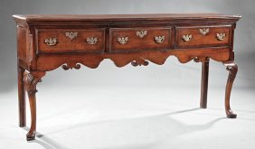 George Iii Provincial Oak Welsh Dresser Base