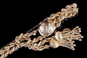 Gold, Diamond Lady's Covered Watch Bracelet