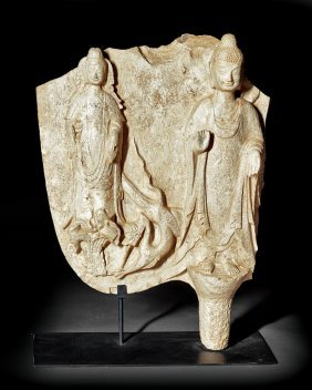 Chinese Stone Buddhist Stele Fragment