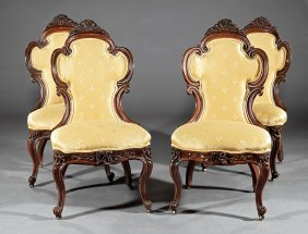 Rosewood Side Chairs, Attr. Belter