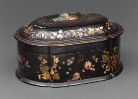 Mother-of-pearl Inlaid Black Lacquer Box