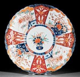Japanese Imari Porcelain Fluted Charger