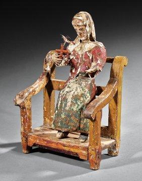 Continental Papier-mâché And Wood Santos Figure