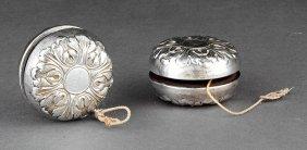 Two Gorham Sterling Silver Repoussé Yo-yos