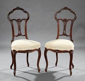 French Art Nouveau Mahogany Ballroom Chairs