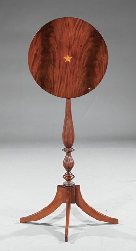 Federal Inlaid Mahogany Candlestand
