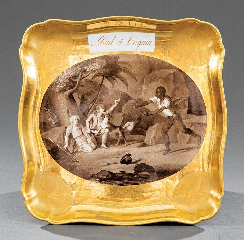 "Paris Porcelain Tray, ""Dagoty"""