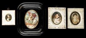 Group Of Four Napoleonic Portrait Miniatures