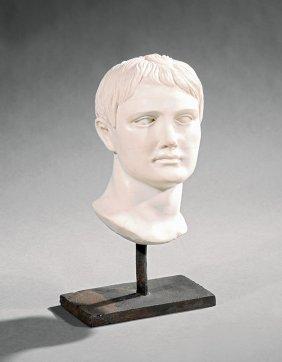 Italian Marble Bust Of Augustus