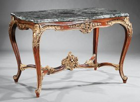 Louis Xv-style Painted, Parcel-gilt Center Table