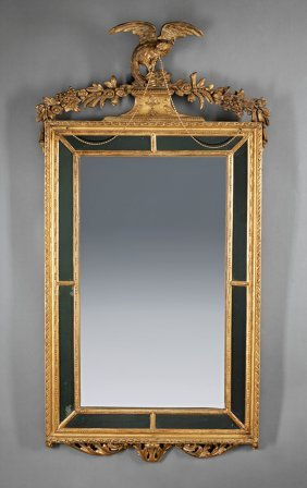 Neoclassical-style Carved Giltwood Mirror