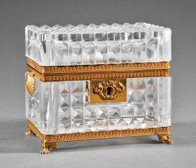 Baccarat-style Diamond Point Cut Crystal Box