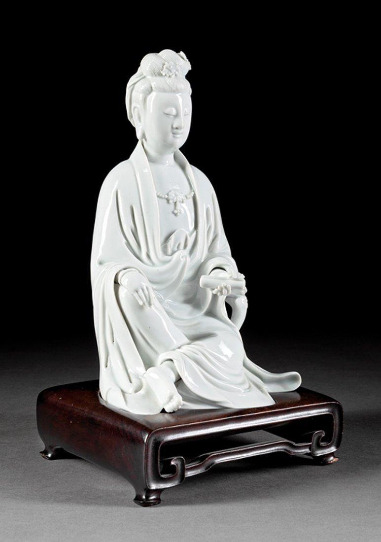 "Chinese ""Blanc de Chine"" Porcelain of Guanyin"