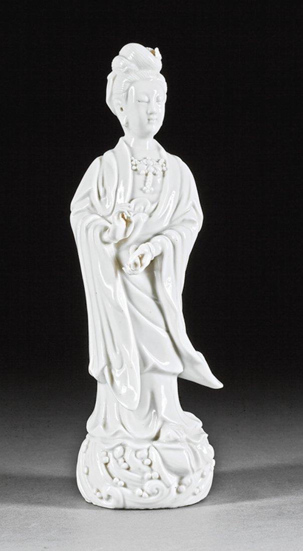 """Chinese """"Blanc de Chine"""" Porcelain Figure Guanyin"""