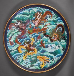 Chinese Cloisonne Enamel Charger