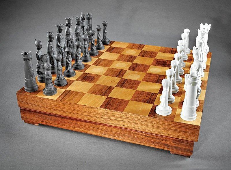 Wedgwood Basalt Chess Set