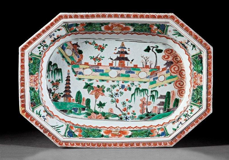 Chinese Export Famille Verte Porcelain Platter