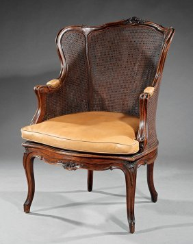 Louis Xv-style Caned Bergere