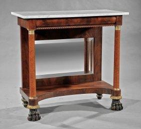 Gilt Bronze-mounted Mahogany Pier Table