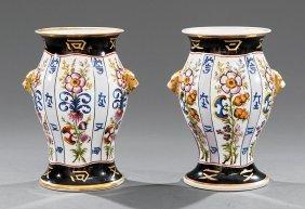 Porcelain Baluster Vases, V. Cassse Maillard