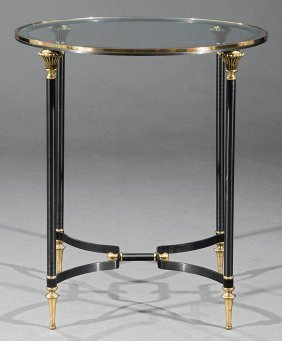 Directoire-style Gilt And Patinated Metal Table