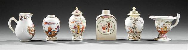 Chinese Export Famille Rose Porcelain Tea Articles