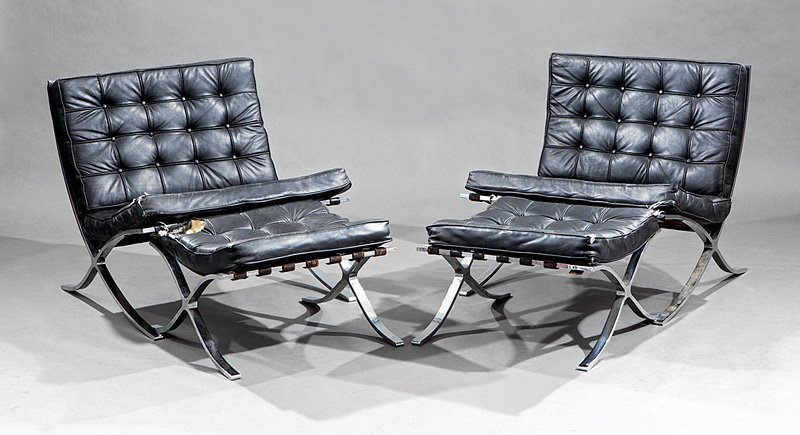 Mies Van Der Rohe Barcelona Chairs and Stools