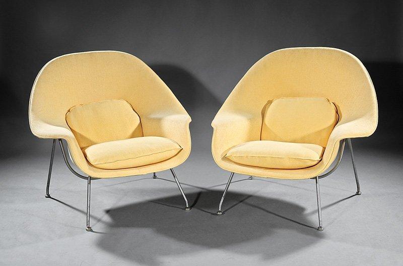 """Eero Saarinen """"Womb"""" Lounge Chairs, """"Knoll"""""""