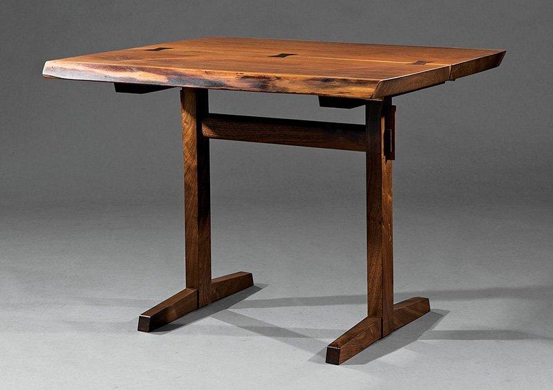 George Nakashima Walnut Trestle Table
