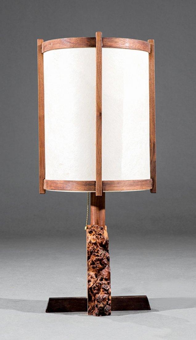 George Nakashima Burlwood Table Lamp