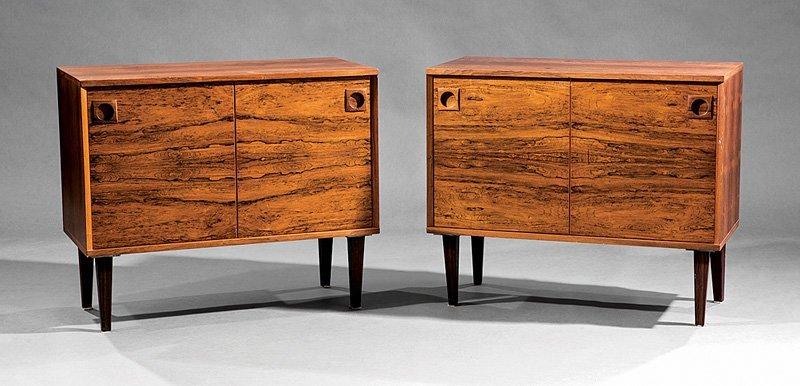 Danish Mid-Century Modern Rosewood Cabinets