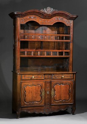 French Carved Fruitwood Vaisselier