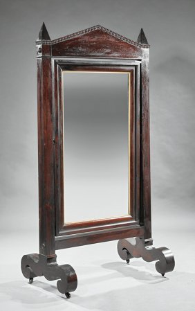 American Classical Rosewood Cheval Mirror