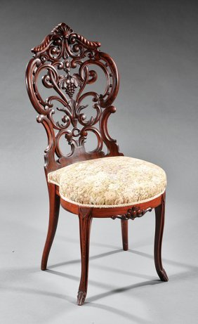 Rosewood Slipper Chair, Attr. J. And J.w. Meeks