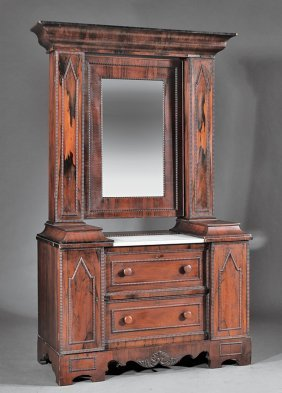 American Gothic Carved Rosewood Wig Dresser