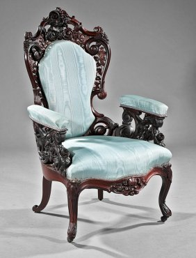 Rosewood Parlor Chairs, Poss. Baudouine