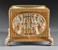 French Gilt Bronze and Glass Cave à Liqueur