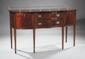 Federal-style Inlaid Mahogany Sideboard
