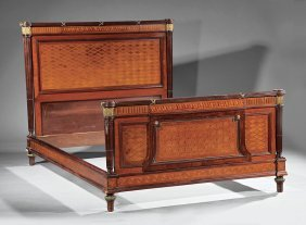 Gilt Bronze-mounted Kingwood Bed