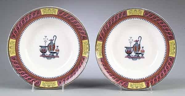 Pair of Antique Spode Soup Plates
