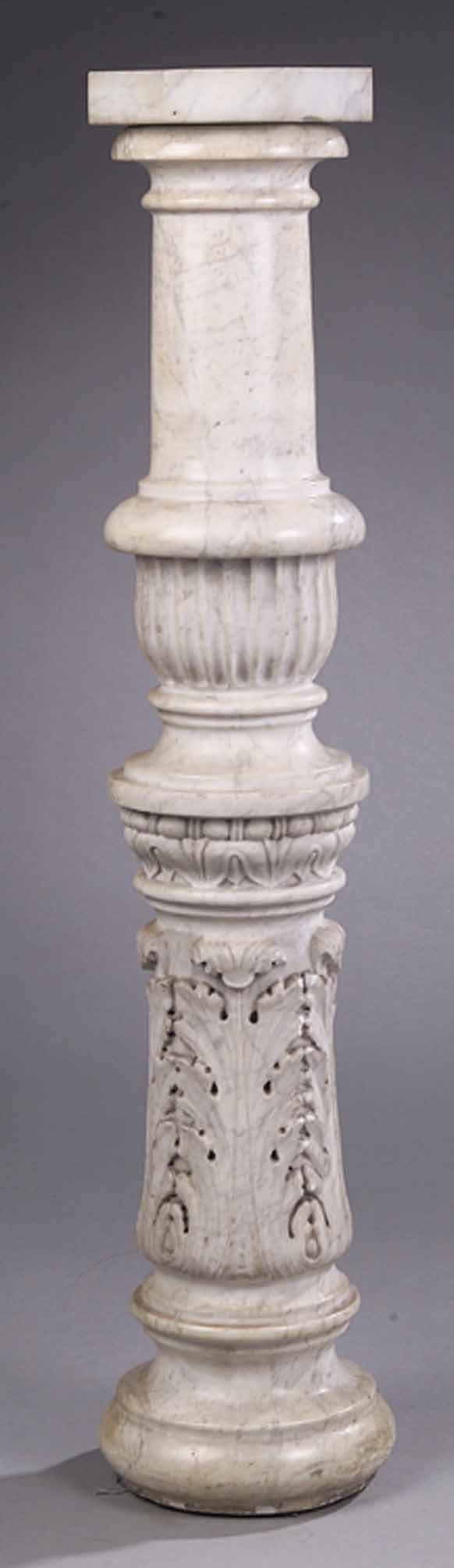 Late 19th c. White Marble Pedestal