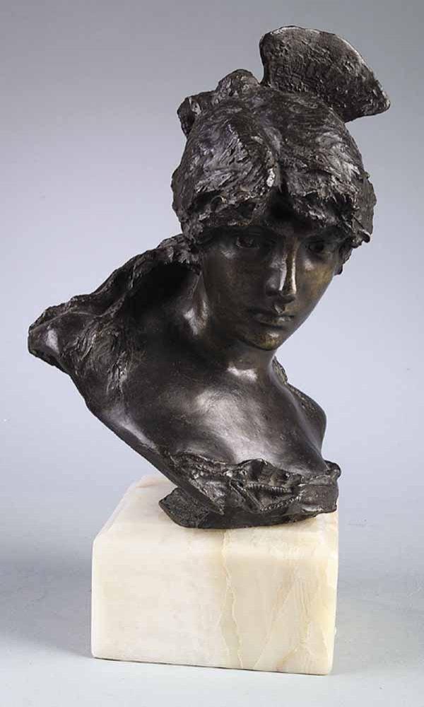 Late 19th c. Bronze Portrait Bust