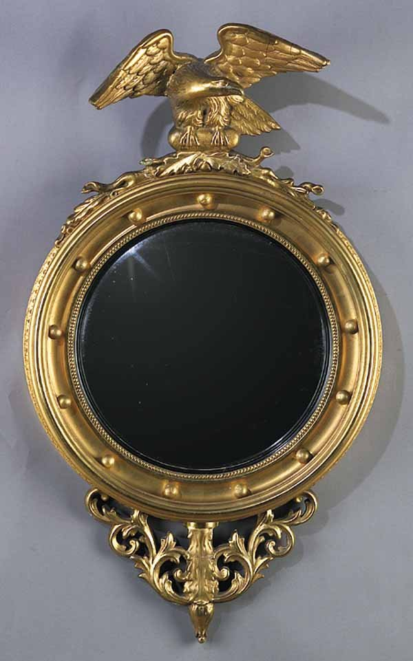 Regency Carved Giltwood Bullseye Mirror