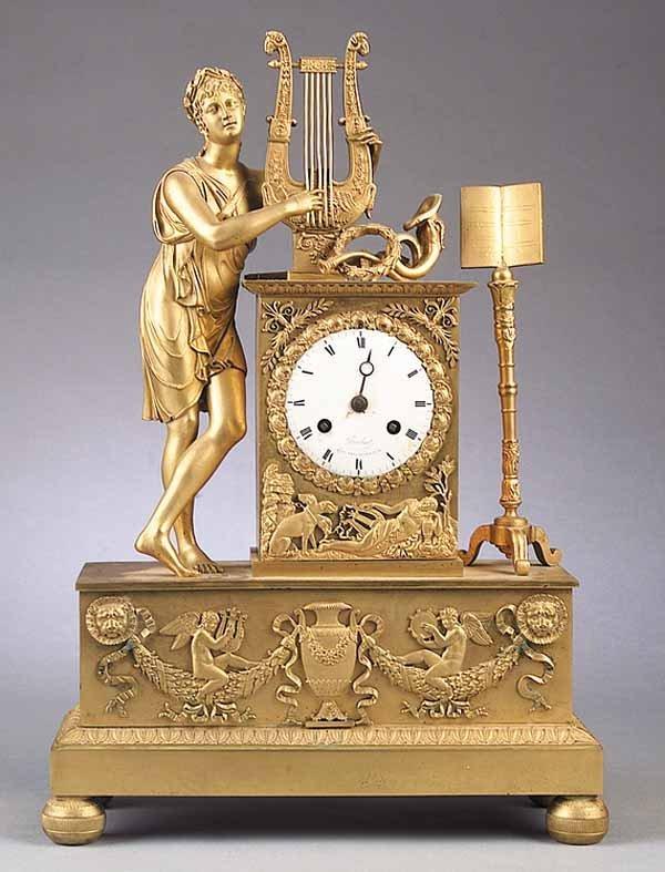 Gilt Bronze Mantel Clock, Brisbart, Paris