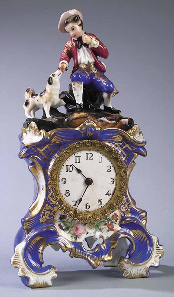 Mid-19th c. Paris Porcelain Mantel Clock