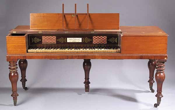 Piano Forte, Labeled William Stoddert & Son